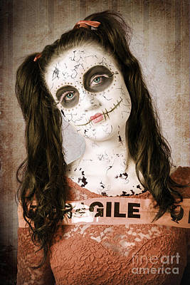 Sad And Ruined Sugarskull Doll With Shattered Face Poster by Jorgo Photography - Wall Art Gallery