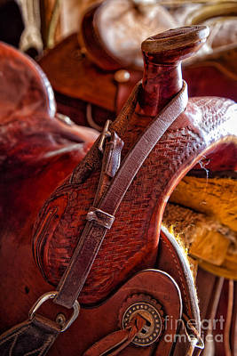 Saddle In Tack Room Poster