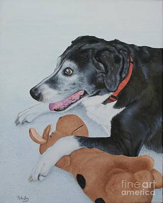 Poster featuring the painting Sadie by Mike Ivey