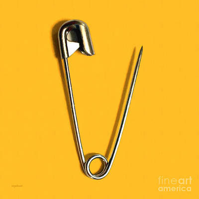 Safety Pin Pop Art 20161112-0 Poster by Wingsdomain Art and Photography