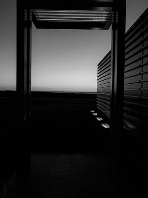 Poster featuring the photograph Sag Harbor Sunset 2 In Black And White by Rob Hans