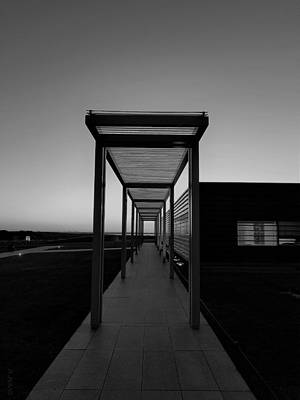 Poster featuring the photograph Sag Harbor Sunset In Black And White by Rob Hans