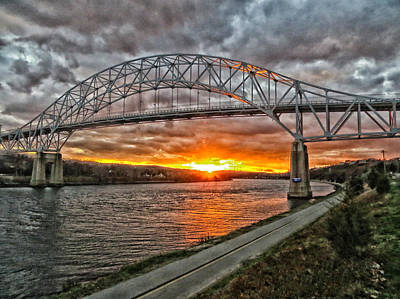 Sagamore Bridge Sunset Poster