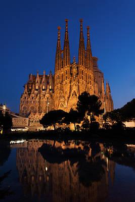 Sagrada Familia Cathedral In Barcelona Poster by Blaz Gvajc