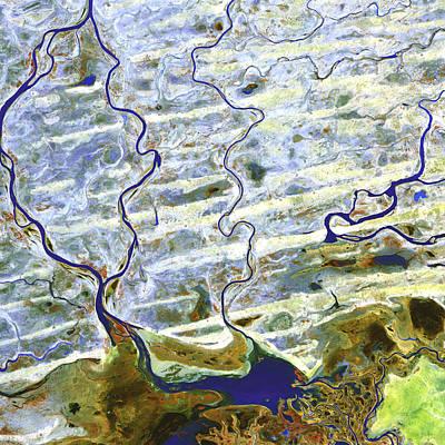 Saharan Desert Rivers, Satellite Image Poster by Nasa