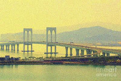 Sai Van Bridge, Macao Poster