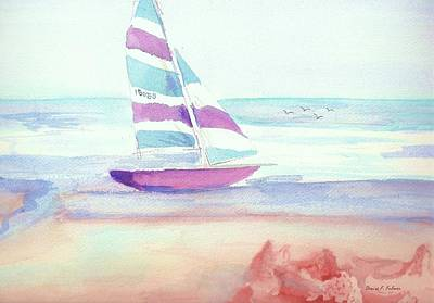 Poster featuring the painting Sail Away by Denise Fulmer