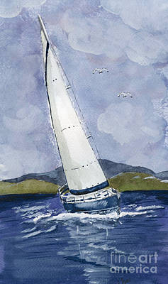 Poster featuring the painting Sail Away by Eva Ason