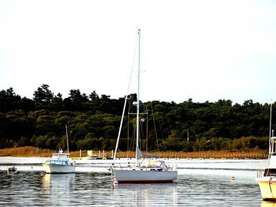 Sail Boat At Anchor  Poster
