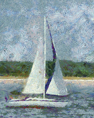 Sailboat Catch The Breeze Poster