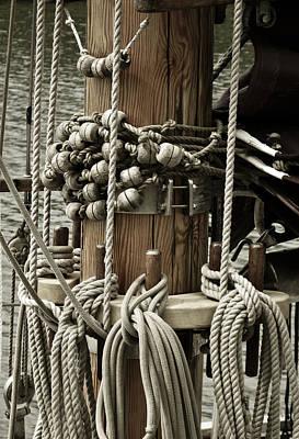 Sailboat Detail 3952 Poster by Frank Tschakert