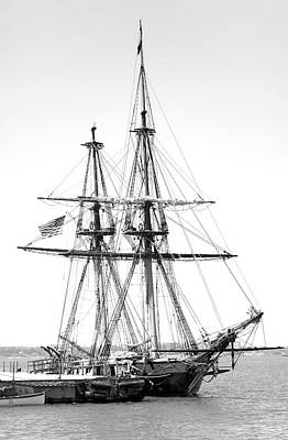 Sailboat Docked In Cleveland Harbor Poster