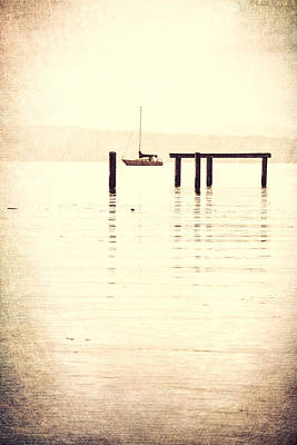 Sailboat Grunge Poster by Dan Sproul