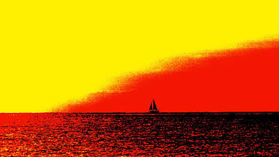 Sailboat Horizon Poster Poster