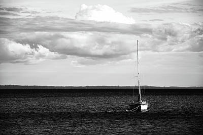 Poster featuring the photograph Sailboat In The Bay by Onyonet  Photo Studios