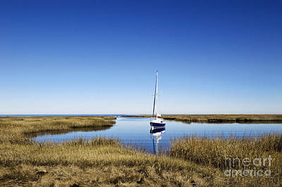 Sailboat On Cape Cod Bay Poster by John Greim