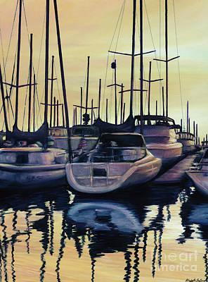 Sailboat Reflections Poster
