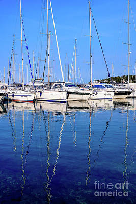 Sailboat Reflections - Rovinj, Croatia  Poster