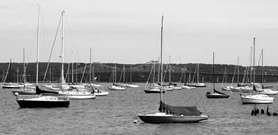 Sailboats And Tappanzee Bridge Poster
