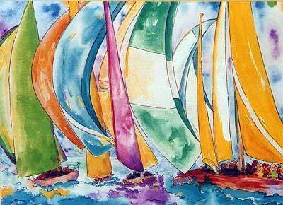 Sailboats Poster by Lisa Boyd