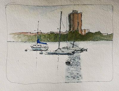 Sailboats Poster by Robert Bissett