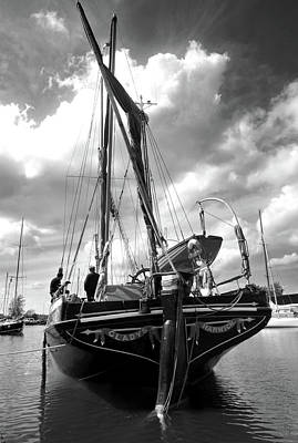 Sailing Barge Gladys Poster by Mike Bambridge