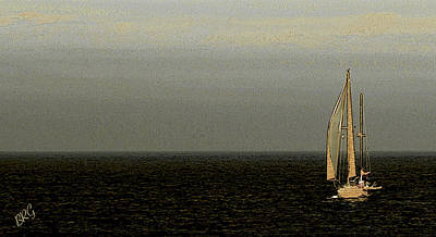 Poster featuring the photograph Sailing by Ben and Raisa Gertsberg