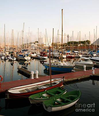 Sailing Boats Barcelona Poster
