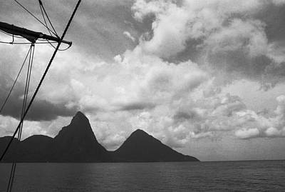 Sailing By The Pitons Poster