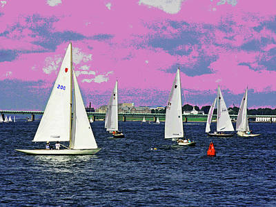 Sailing Fun Poster by Larry Oskin