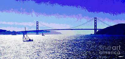 Sailing Golden Gate Bridge Poster by Jerome Stumphauzer