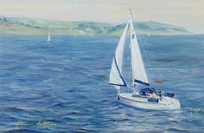 Sailing Home Poster by Antonia Myatt