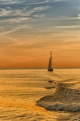 Sailing Into The Sunset Poster by Linda Pulvermacher