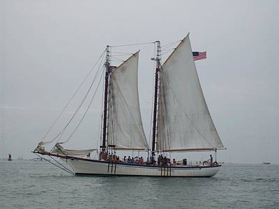 Poster featuring the photograph Sailing Key West  by Nancy Taylor