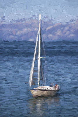 Sailing Lake Tahoe Poster by Carol Leigh