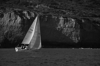 Sailing Off Southern California Poster