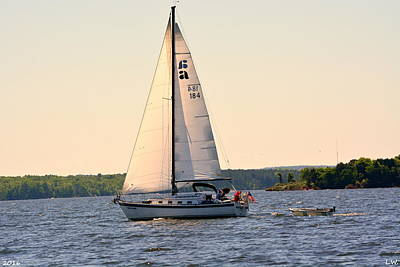 Poster featuring the photograph Sailing On Lake Murray Sc by Lisa Wooten