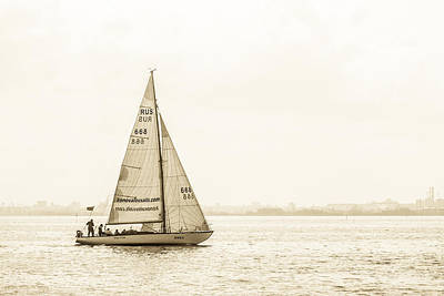 Sailing On The River Neva Poster by Clare Bambers