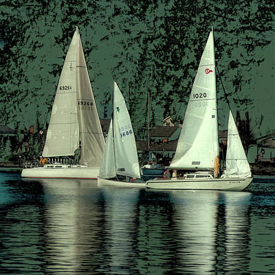 Poster featuring the photograph Sailing Reflections by David Patterson