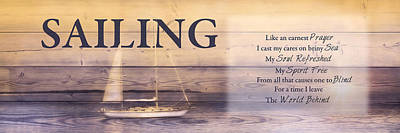 Poster featuring the photograph Sailing by Robin-Lee Vieira