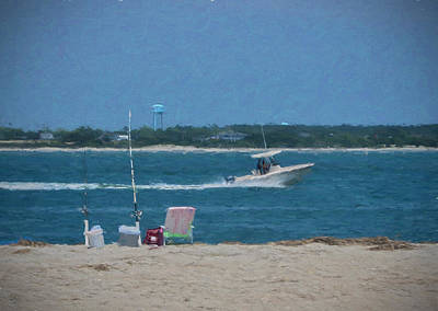 Boating Through Bogue Inlet Poster by Sandi OReilly