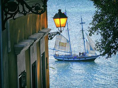 Sailing Through San Juan Poster by Mariola Bitner