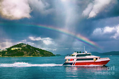 Sailing Under The Rainbow Poster by Mariola Bitner