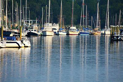 Sails At Dock Poster