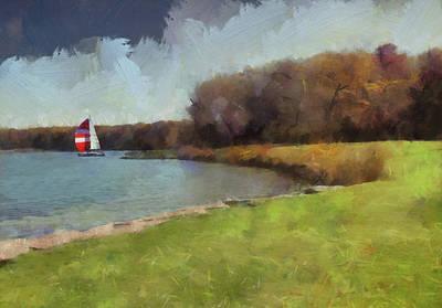 Sails On Lake Wampum Poster
