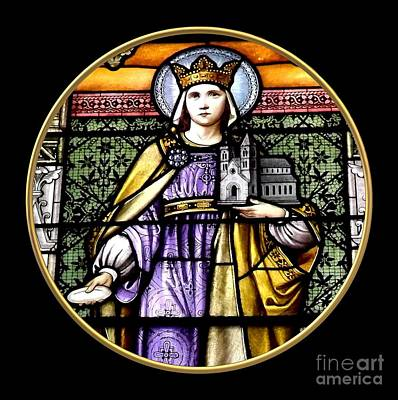 Saint Adelaide Stained Glass Window In The Round Poster