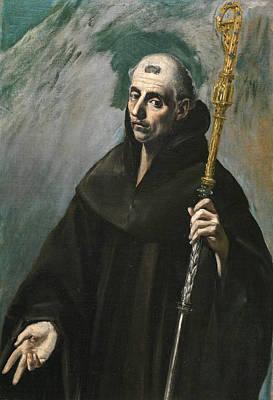 Saint Benedict Poster by El Greco