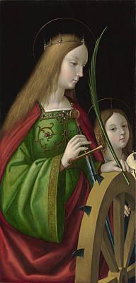 Saint Catherine Of Alexandria   Poster by Antonio de Solario