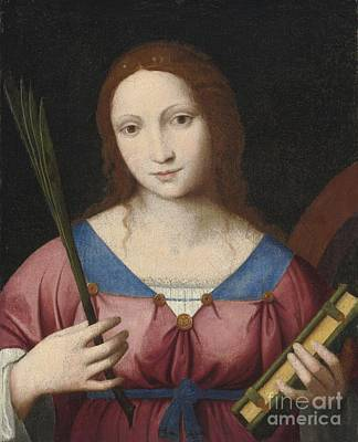 Saint Catherine Of Alexandria Poster by MotionAge Designs
