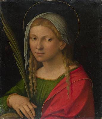 Saint Catherine Of Alexandria Poster by Garofalo